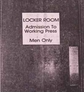 The sign the female sports journos were met with