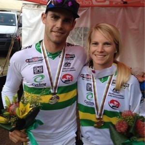 Tracey and brother Mick who are both determined to win the World Championships.