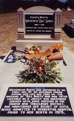 Wilhemena was buried in an unmarked grave in 1975 but was honoured with a tombstone acknowledging her accomplishments as a jockey in 2005.