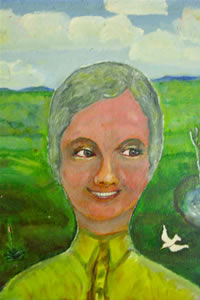Painting of Wilhemena 'Bill' Smith in her old age. She lived her life a lie in order to pursue her dream.