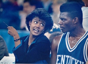 Bernadette Mattox was the first female assistant coach in U.S. College Basketball in 1990.