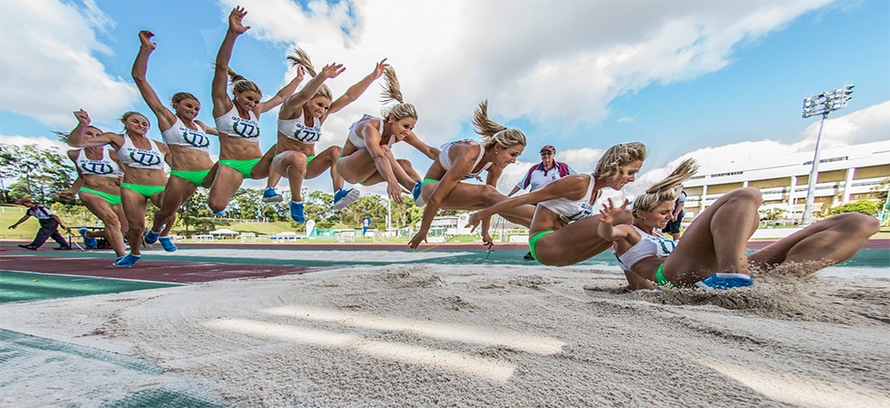 Linda Leverton is going to gold in the triple jump at the Comm Games - but it's been no easy road to get there. Photo: EYE SEE IMAGES - Patrick O'Kane