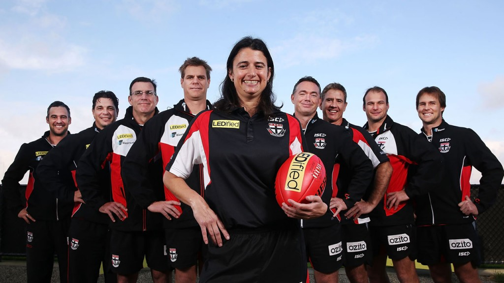 Peta Searle has become the AFL's first female coach.
