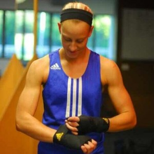Kaye Scott is competing in the 75kg division in Glasgow.