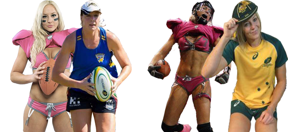 Chloe Butler was the first Australian to compete in America's Lingerie Football League but is now preparing to represent Australia at the Rugby World Cup.
