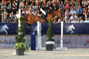 Edwina and Cevo Itôt du Chateau at Longines Global Champions Tour Grand Prix of Switzerland. Photo: Sportfot/GCT