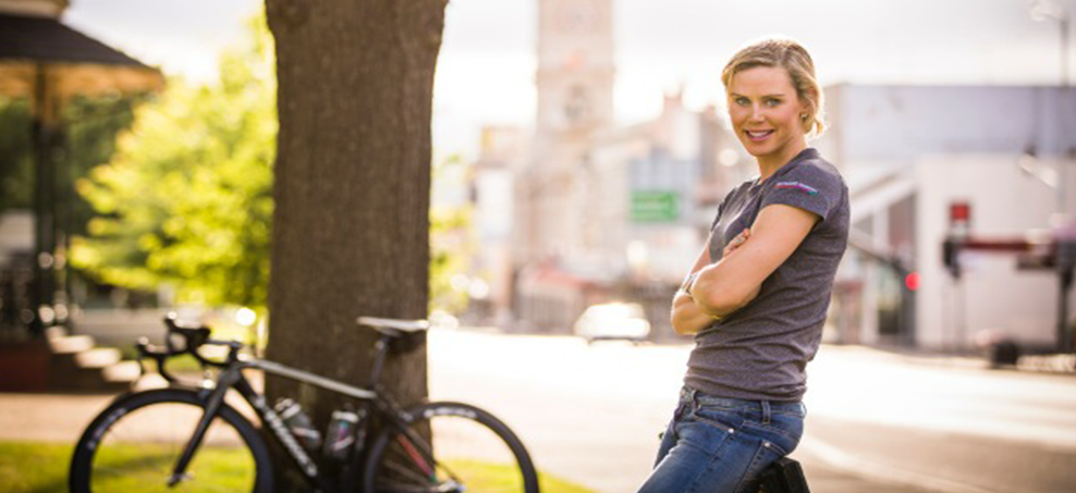 """Tiffany Cromwell is one of Australia's leading riders but is also forging a name in cycling fashion with her brand """"Tiffany Jane"""""""