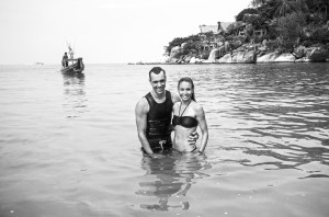Christina and husband Eusebio at their home in Koh Tao. Photo: One Ocean One Breath.