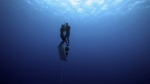 Christina and Eusebio during their Tandem Variable Weight World Record Dive.