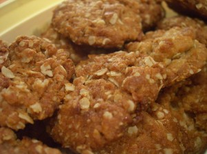 Try this recipe for paleo anzac biscuits.