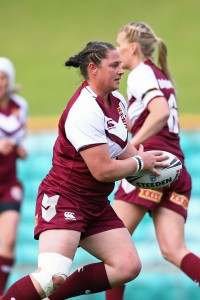 Maroons captain Steph Hancock Photo: John Bonanno