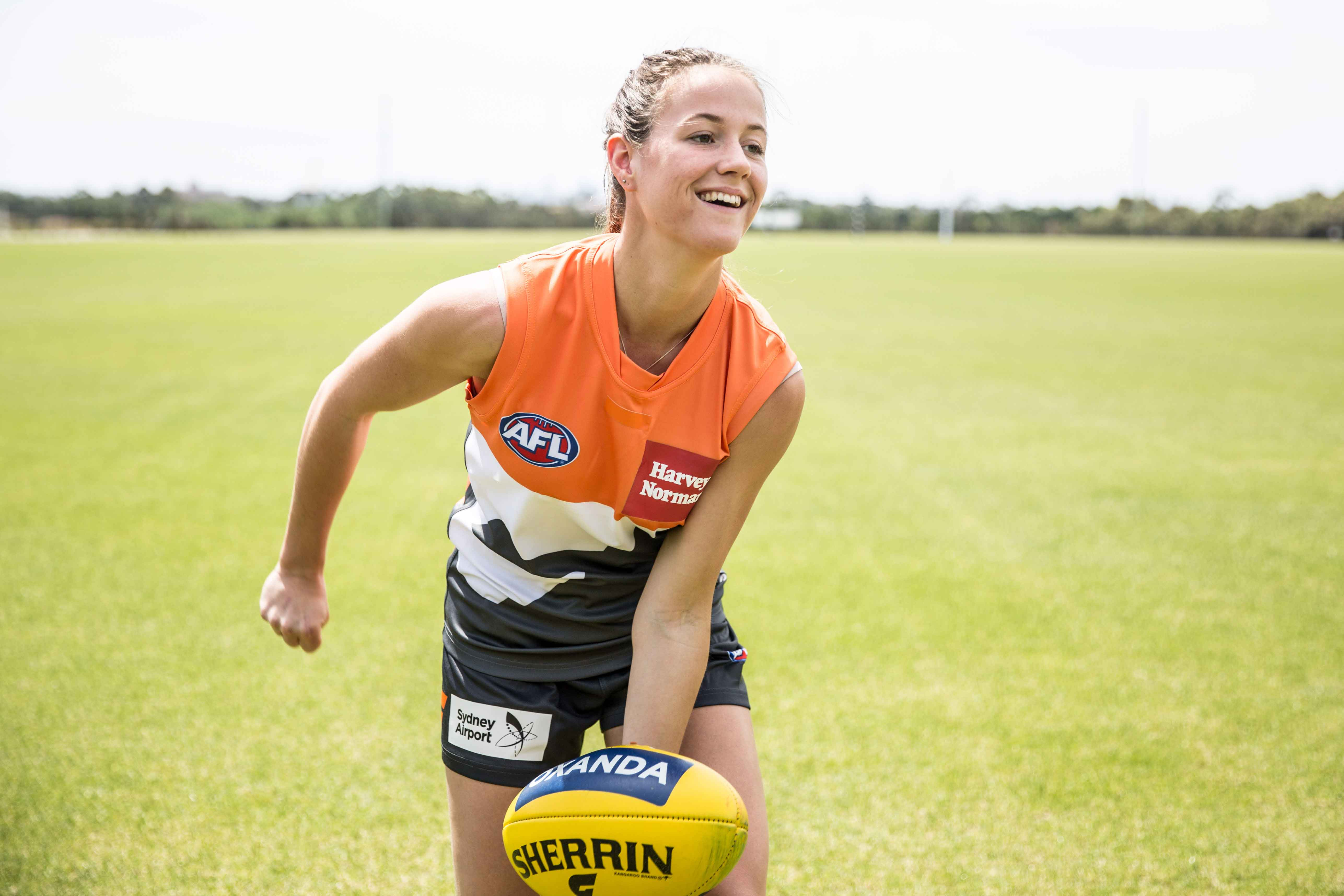 Nicola Barr is the inaugural Number 1 draft pick heading to the GWS Giants.
