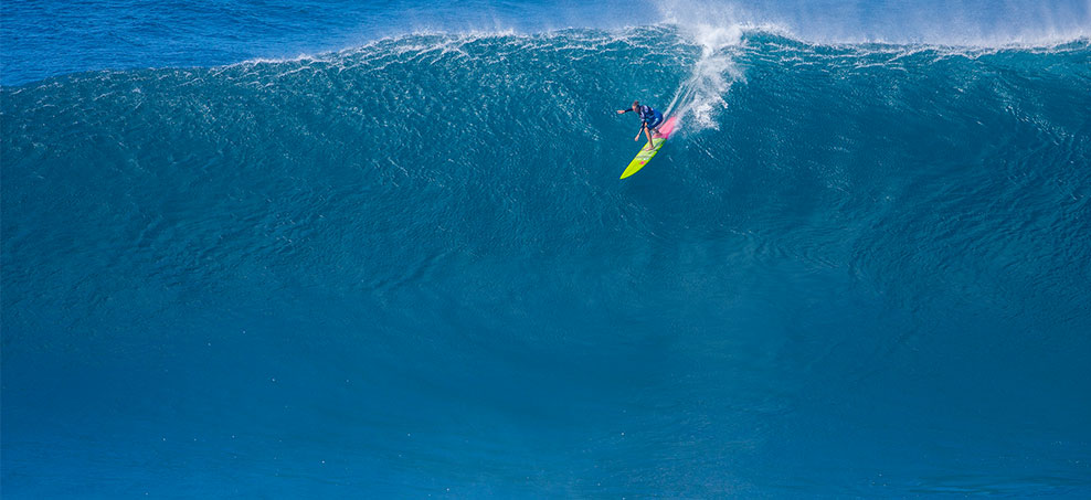 Paige Alms at the first WSL Women's Big Wave World Tour Event at Jaws. Photo: WSL